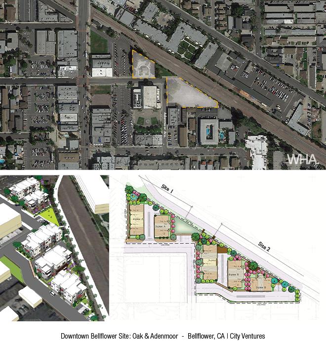 Downtown Bellflower Site: Oak & Adenmoor - Bellflower, CA | City Ventures